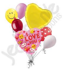 balloon bouquest i you emoji happy s day balloon bouquet jeckaroonie