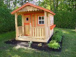 Backyard Cedar Playhouse by Sunflower 6x9 Cedar Playhouse Outdoor Living Today Sf69