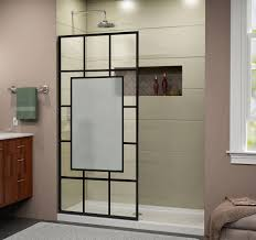 patterned glass shower doors dreamline french linea avignon frameless shower door 34 in x 72