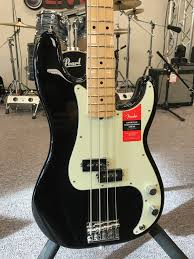 Fender Mustang Bass Black Fender American Professional Precision Bass Black Music Land Bel