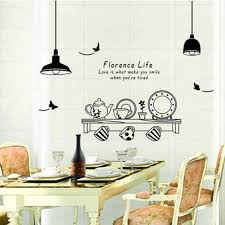 Dining Room Decals Kitchen Utensils Butterfly Letter Removable Wall Stickers Art