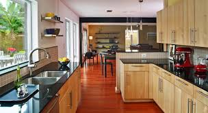 Light Oak Kitchen Cabinets Light Wood Kitchen Cabinets Kitchen Contemporary With Black Chair