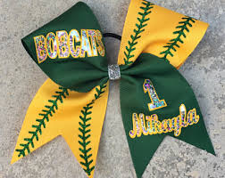 softball bows bows with sayings etsy