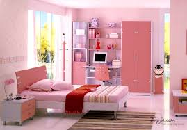 teenage bedroom colors with pink wall color and white door design