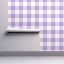 large buffalo check in lavender wallpaper by domesticate