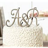 wedding cake toppers initials silver monogram wedding cake toppers initials with