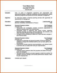 Financial Advisor Resume Sample by Financial Advisor Resume Sample Free Sample Resume Financial