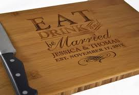 personalized wedding cutting board personalized cutting board eat drink and be