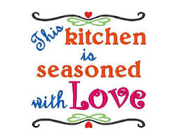 Free Kitchen Embroidery Designs Kitchen Saying Etsy