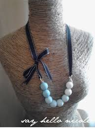 ribbon necklace making images Tutorial tiffany blue ombre wood bead grosgrain necklace nicole jpg