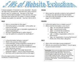 webquest how can we evaluate websites when doing research