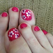 summer flower nail art for toes by stephanie watkins nailed it