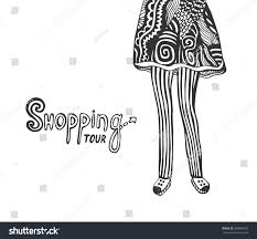 illustration legs doodle fashion stock vector 289840679