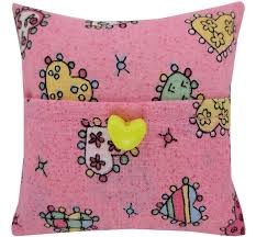 tooth fairy gift tooth fairy pillow pink heart print fabric yellow heart button
