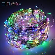 30m 300 leds cool white light silver wire outdoor led
