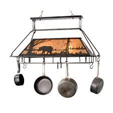 kitchen lighted pot rack kitchen pan hanger lowes kitchen