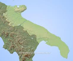 Map Of Puglia Italy by Apulia Physical Map