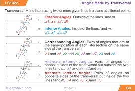 learnhive icse grade 7 mathematics lines and angles lessons