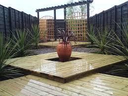 Sloping Garden Design Garden Decking Ideas Zampco - Backyard decking designs