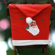 Santa Chair Covers Online Shop 2pc Non Woven Santa Hat Chair Covers Christmas Decor
