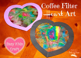 mom to 2 posh lil divas kid u0027s craft coffee filter heart art for
