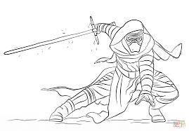 kylo ren coloring free printable coloring pages