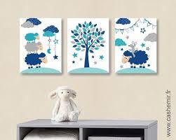 stickers mouton chambre bébé affiche pour chambre de bébé et d enfant garçon mouton souris bleu