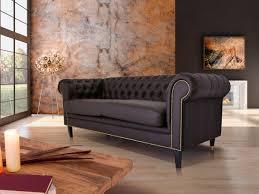 2 er sessel chesterfield 2er sofa santos kunstleder braun