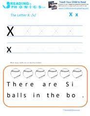 teaching the alphabet letter x and the u0027ks u0027 phonics sound