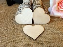 Heart Shaped Items 100 Wooden Hearts Natural Wood Heart By Melindaweddingdesign