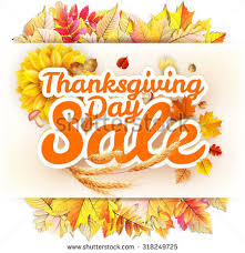 thanksgiving day sale headline template eps stock vector 318249725