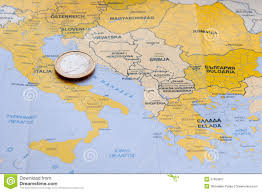 Map Mediterranean Euro Coin On Mediterranean County Map Stock Photo Image 51893667