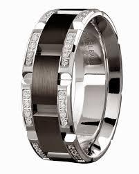 tiffany rings bands images Mens diamond black wedding rings tiffany 18k white gold luxury jpg