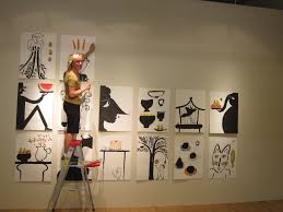 wonderful cool wall painting ideas on decoration with sleek wall