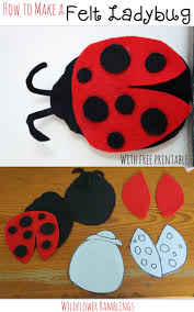 how to make a felt ladybug wildflower ramblings