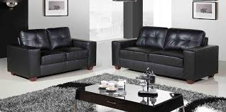 gothic leather couch in living room designing grey smooth fur