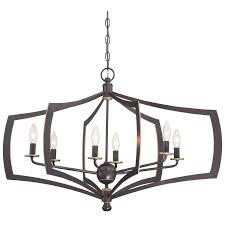 Minka Lighting Chandeliers Minka Lavery 4376 579 Middletown 6 Light Oval Chandelier In