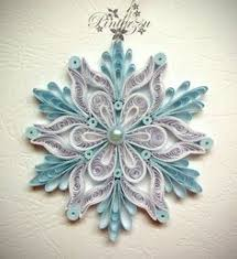 this is one of the prettiest quilled snowflakes i ve seen and i ve