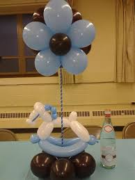 Baby Shower Table Centerpiece Ideas Baby Boy Shower Centerpieces For Tables Made From Baloon With