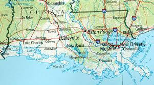 louisiana map areas cajun south louisiana southern spaces