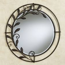 Round Mirrors Galeazzo Antique Bronze Round Metal Wall Mirror