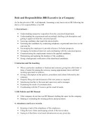Responsibility Resume Roleandresponsibilitieshrexecutiveinacompany 130830045343 Phpapp01 Thumbnail 4 Jpg Cb U003d1377838495