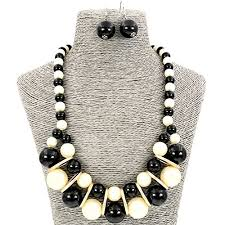 white necklace fashion jewelry images Comelyjewel fashion jewellery simulated pearl black white necklace jpg