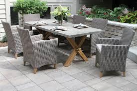 teak u0026 driftwood grey wicker dining chair with sunbrella fabrics 2pk