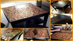 tile table top makeover give your coffee table a makeover using pennies the owner builder