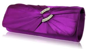 Crystal Home Decor Wholesale Wholesale Purple Satin Clutch Bag With Crystal Decoration