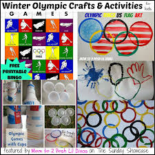 mom to 2 posh lil divas olympic themed activities for kids the