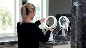 bright light magnifying mirror max bright sunlight vanity mirror 1x 10x model max110 youtube
