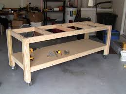 Building Woodworking Bench Garage Astonishing Garage Workbench Design Sam U0027s Club Workbenches