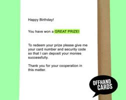 offhand cards etsy